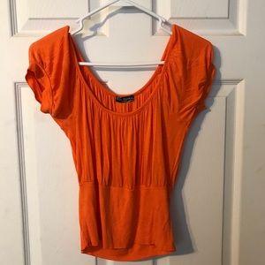 Orange crop top